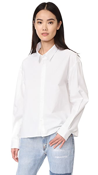 Golden Goose Cropped Shirt In White
