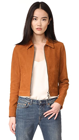 Golden Goose Mini Leather Jacket - Brown