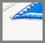 White/Blue Fluo