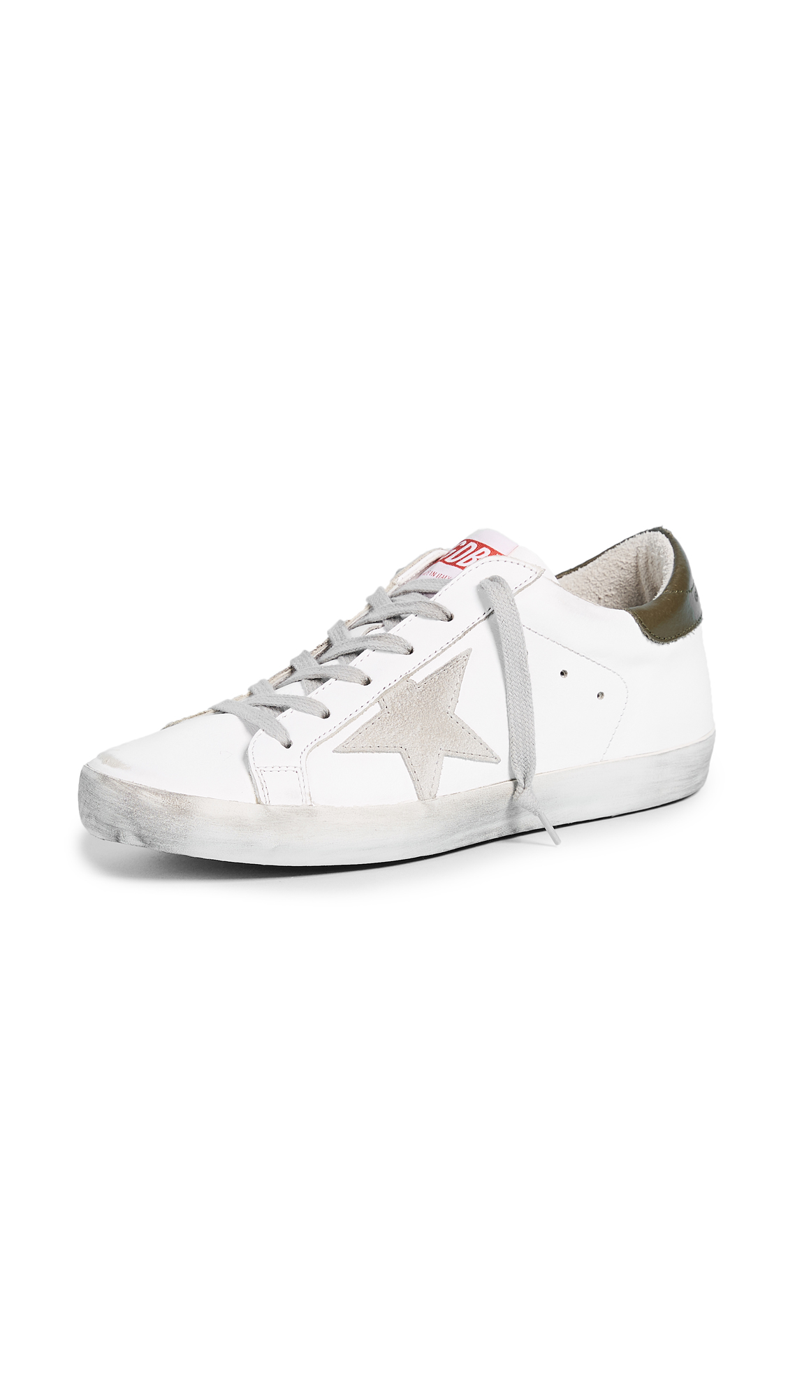 Golden Goose Superstar Sneakers - White/Military Green