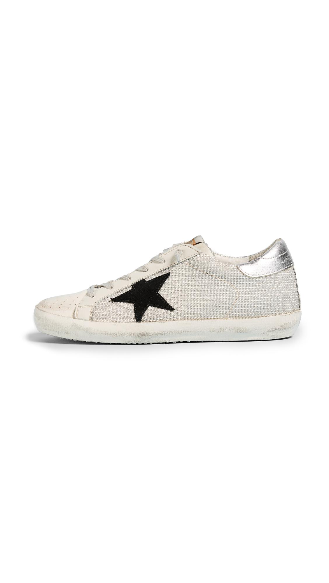 Golden Goose Superstar Sneakers - White Cord/Silver Lurex