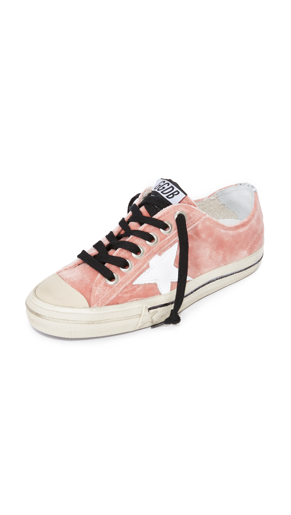 Golden Goose V-Star Velvet Sneakers - Velvet Rose/White
