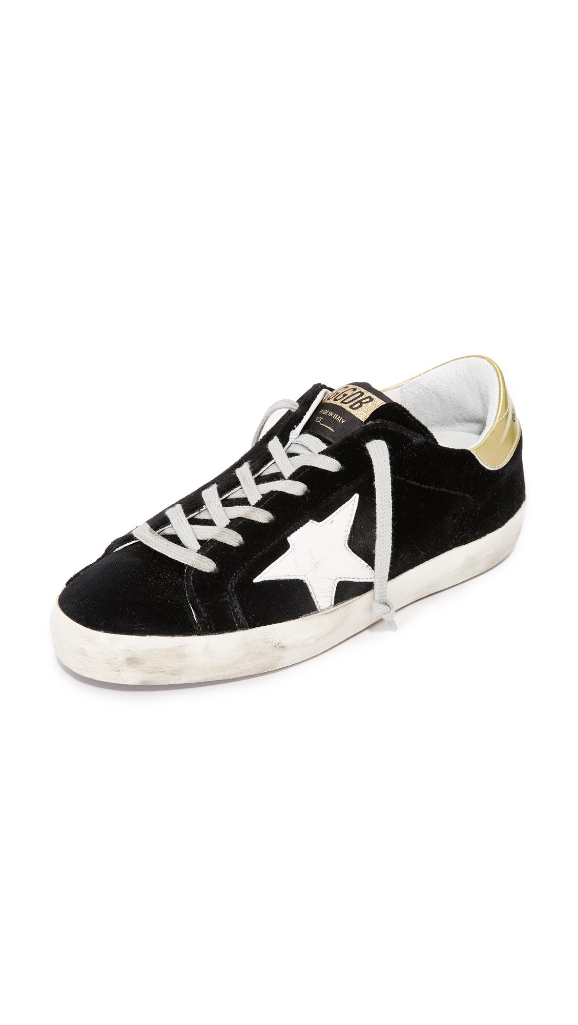 Golden Goose Superstar Velvet Sneakers - Black/White