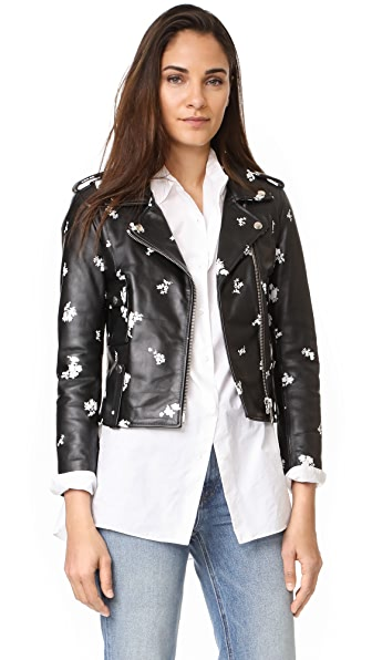 Golden Goose Mini Chiodo Jacket - Black Flowers