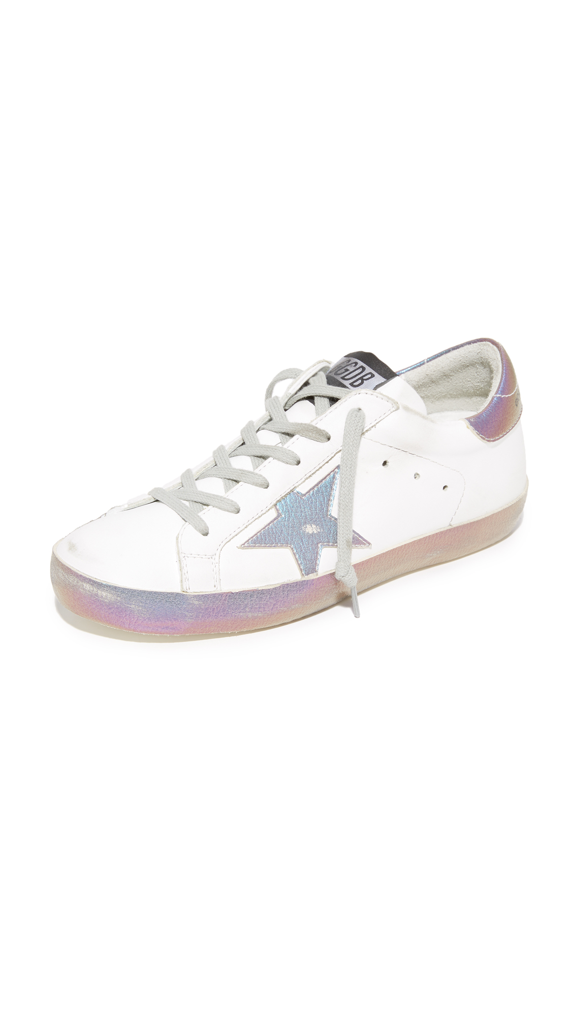 Golden Goose Superstar Sneakers - Sparkle White/Iridescent Star