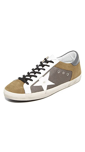Golden Goose Mesh Superstar Sneakers