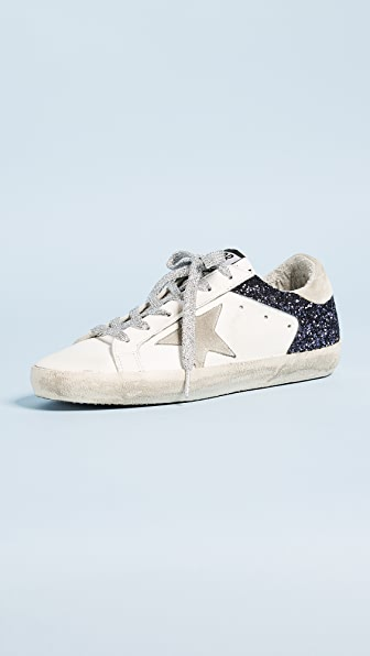 Golden Goose Superstar Sneakers - White/Navy