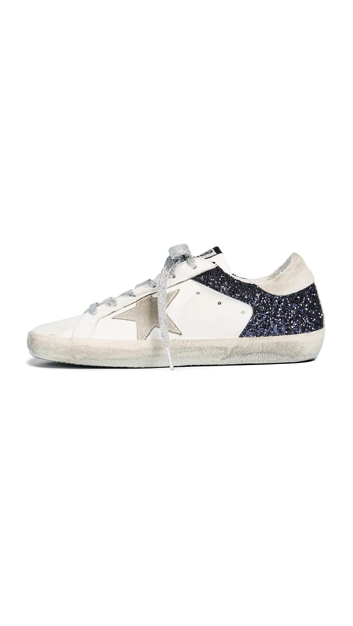 Golden Goose Superstar Sneakers - White/Navy