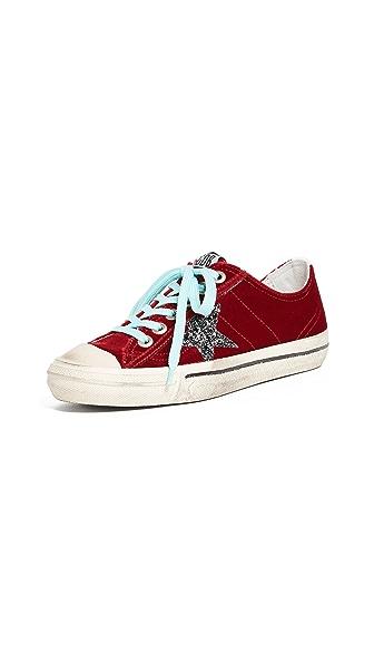 Golden Goose V-Star 2 Sneakers In Red/Grey