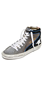 Golden Goose Womens 20mm Super Star Leather Sneakers - Golden Goose Outlet