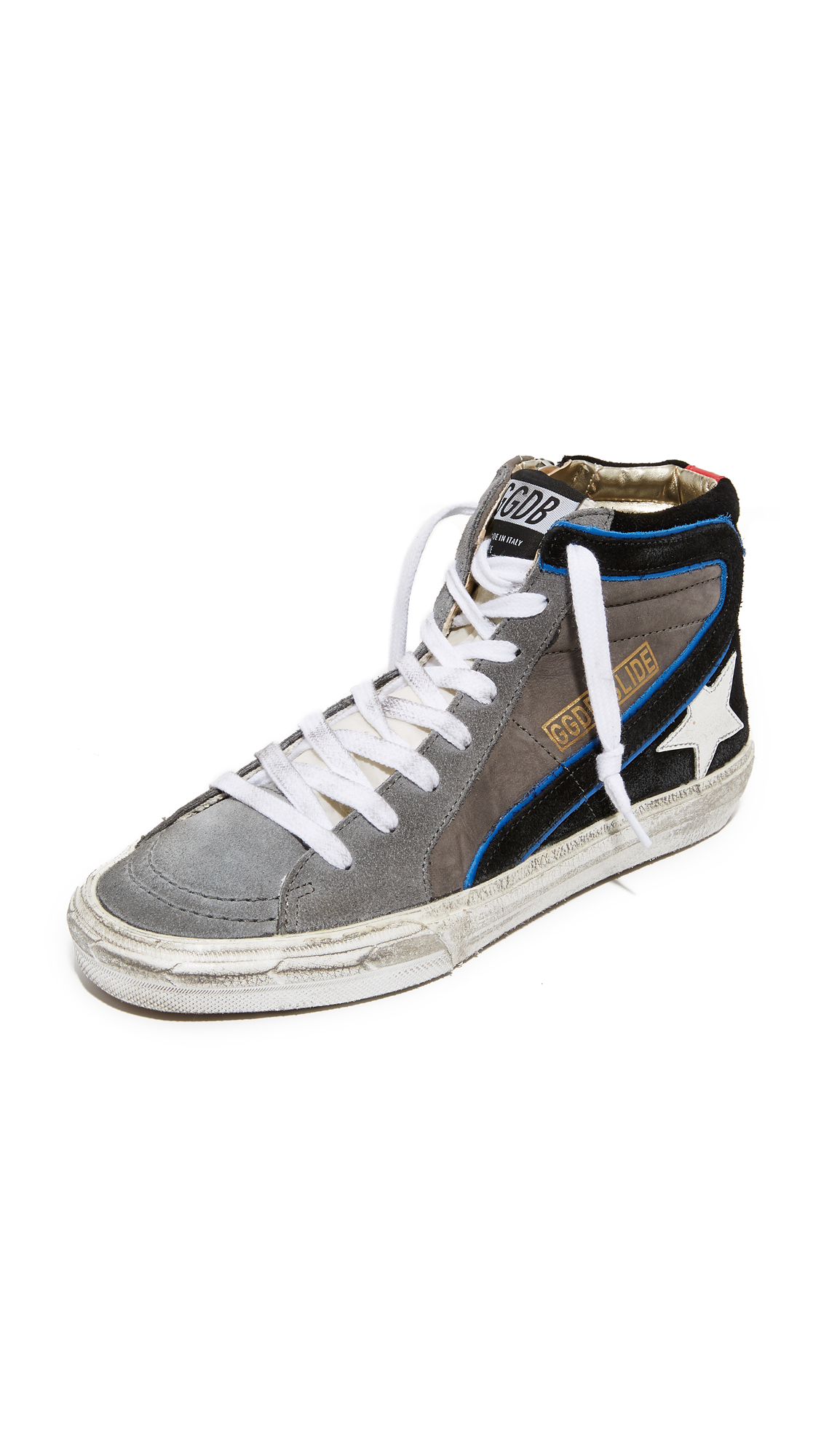 Golden Goose Slide Sneakers - Lavagna/White