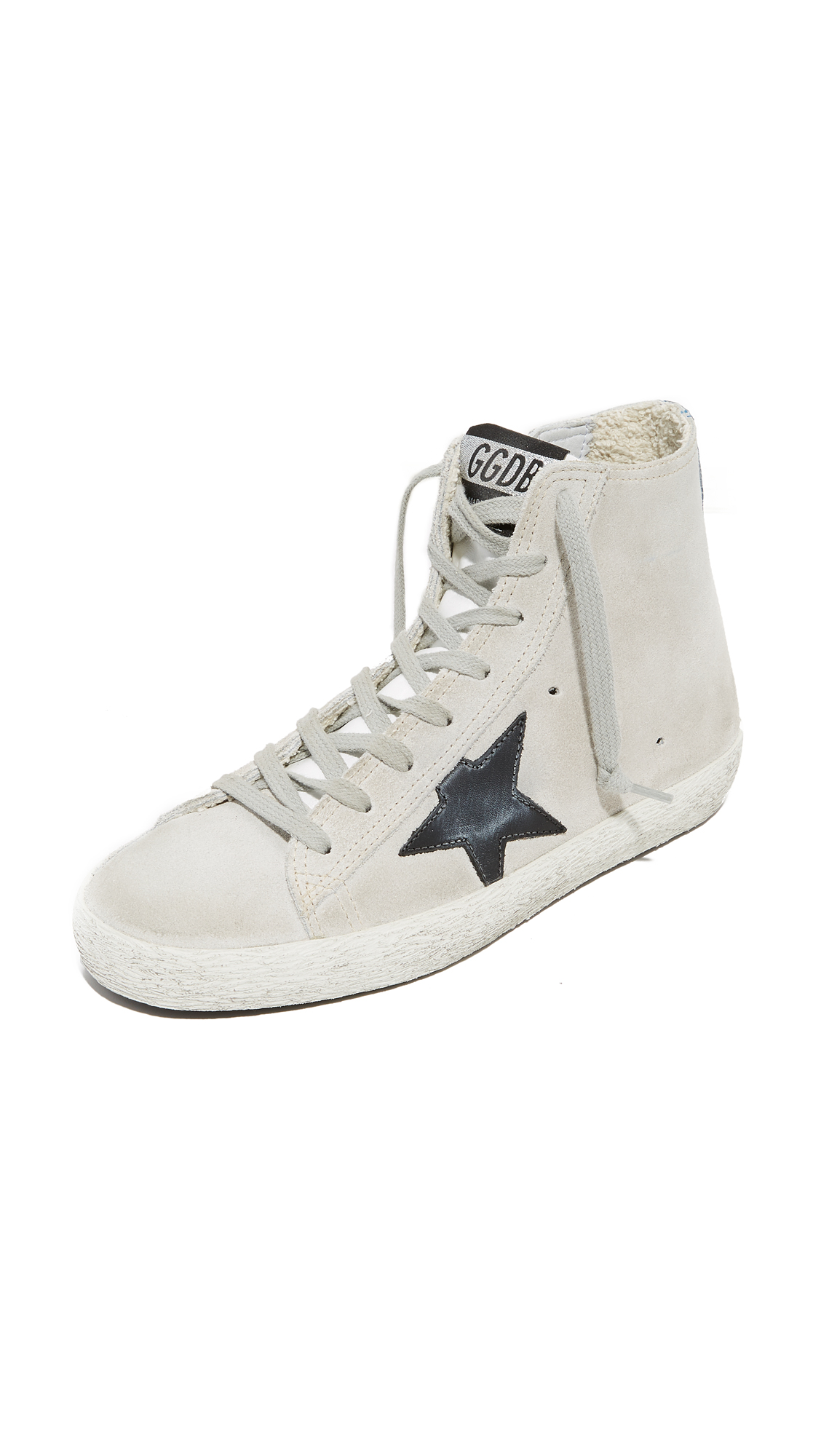 Golden Goose Francy High Top Sneakers - Pearl/Traffic Light