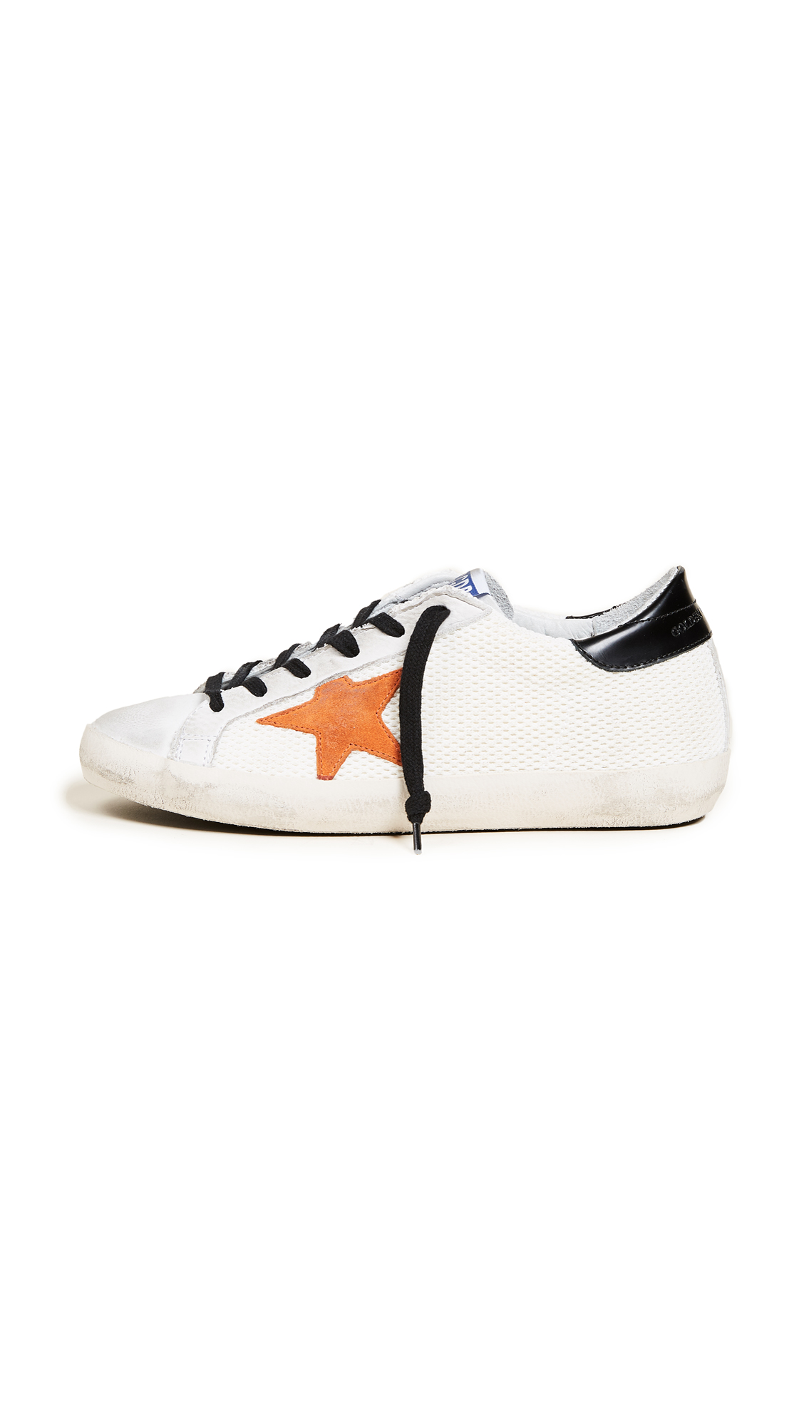 Golden Goose Superstar Sneakers - White/Orange