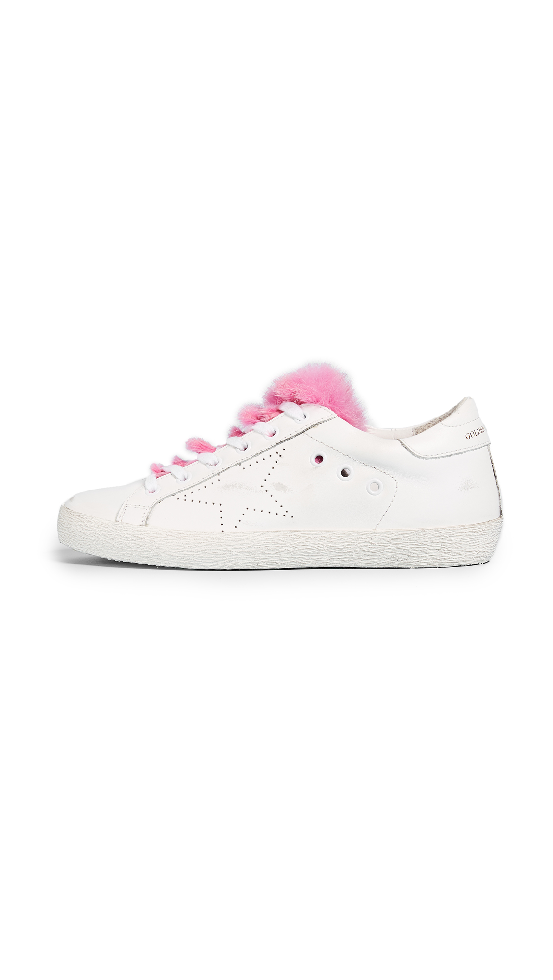 Golden Goose Superstar Sneakers - White/Fuchsia