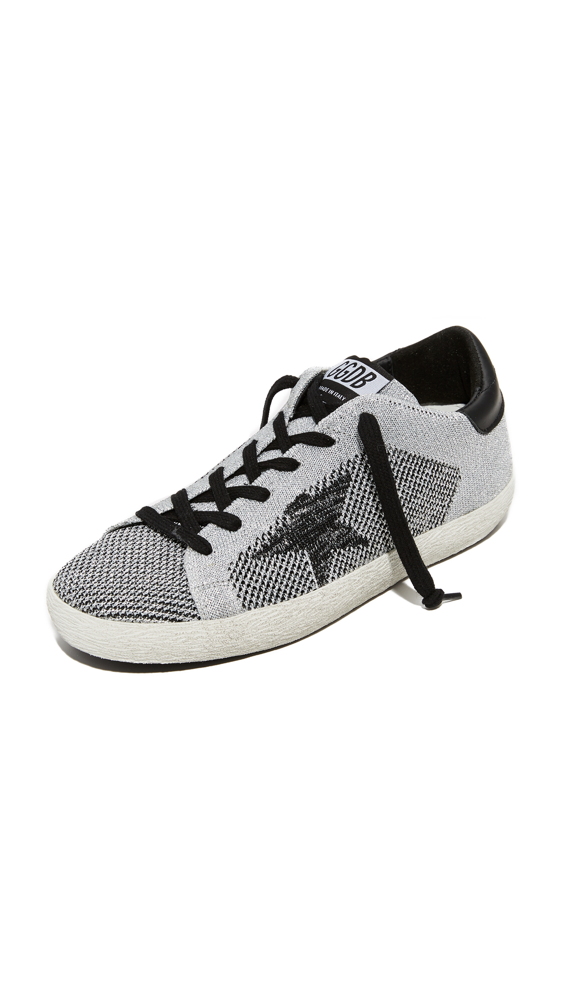 Golden Goose Superstar Sneakers - Silver/Grey