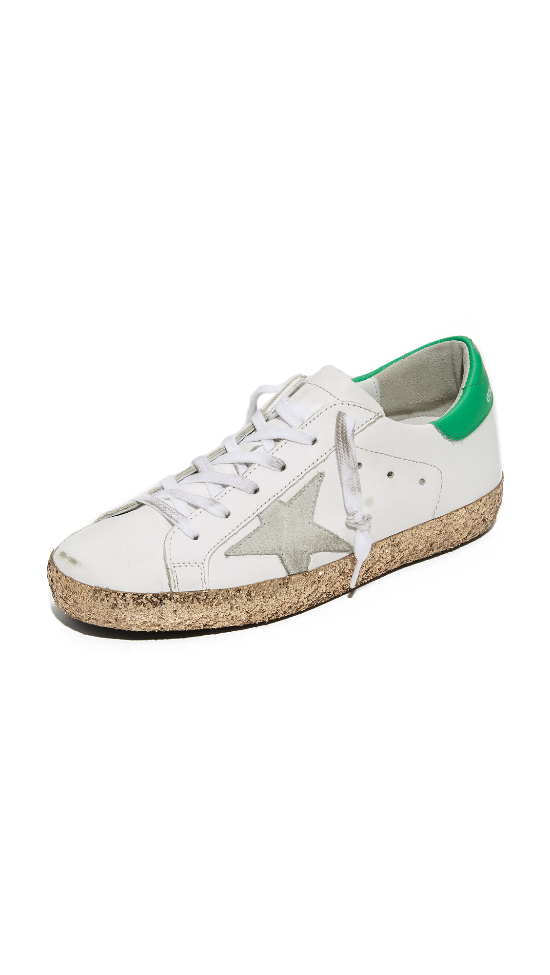 Golden Goose Superstar Sneakers - White/Gold