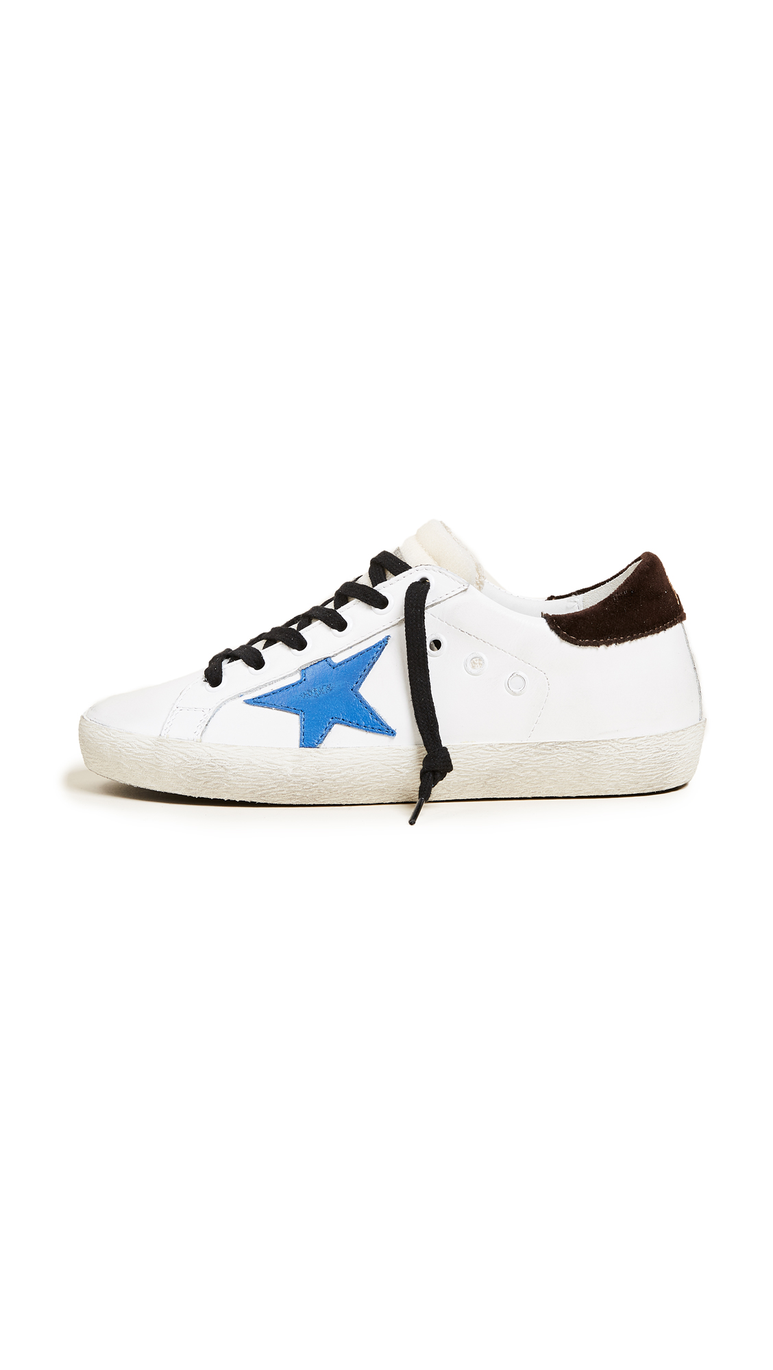 Golden Goose Superstar Sneakers - White/Bluette