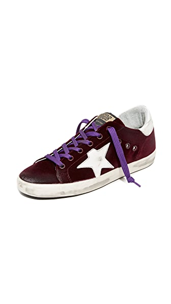 Golden Goose Superstar Sneakers - Bordeaux/White