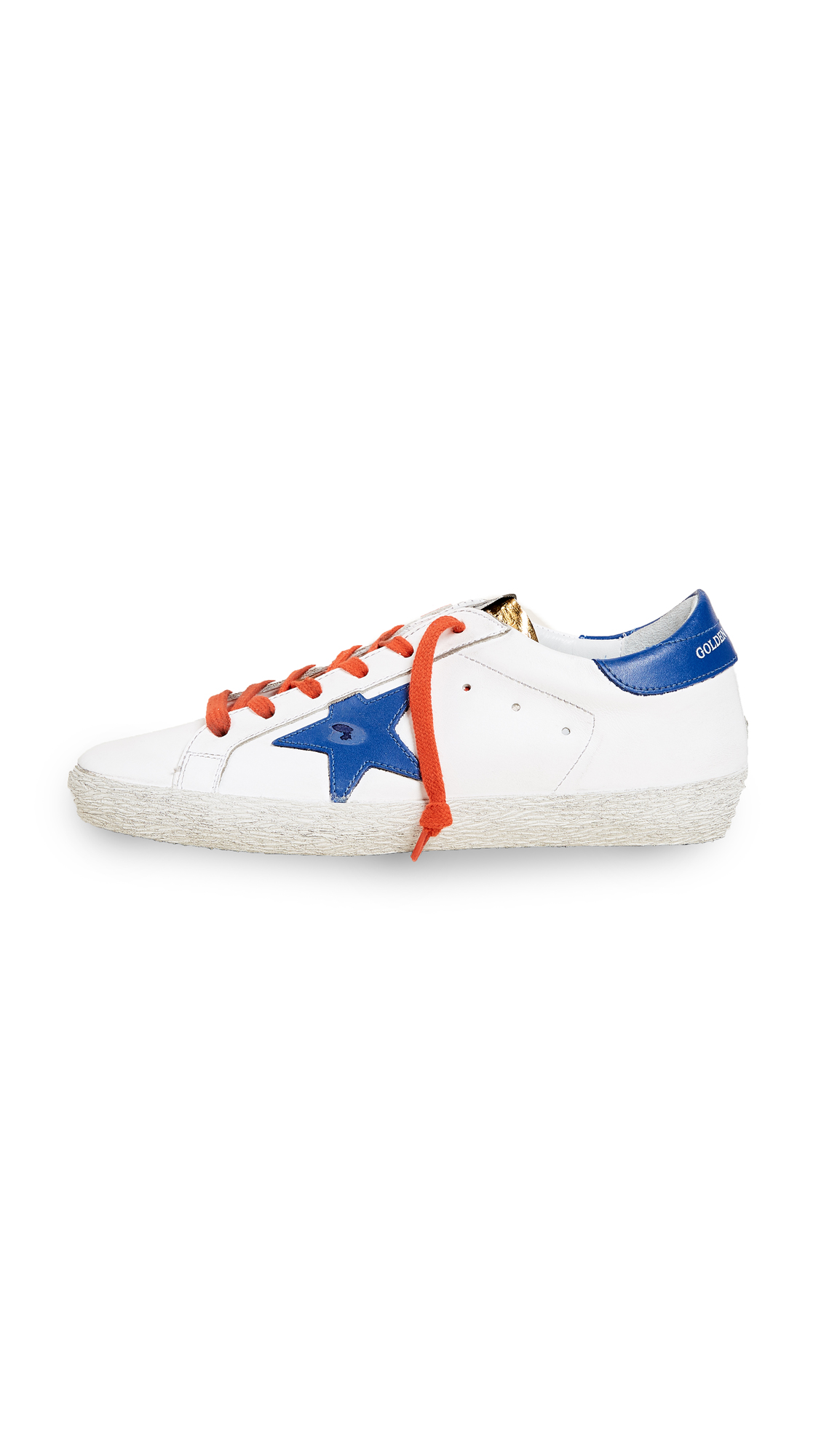 Golden Goose Superstar Sneakers - White/Gold/Red/Blue