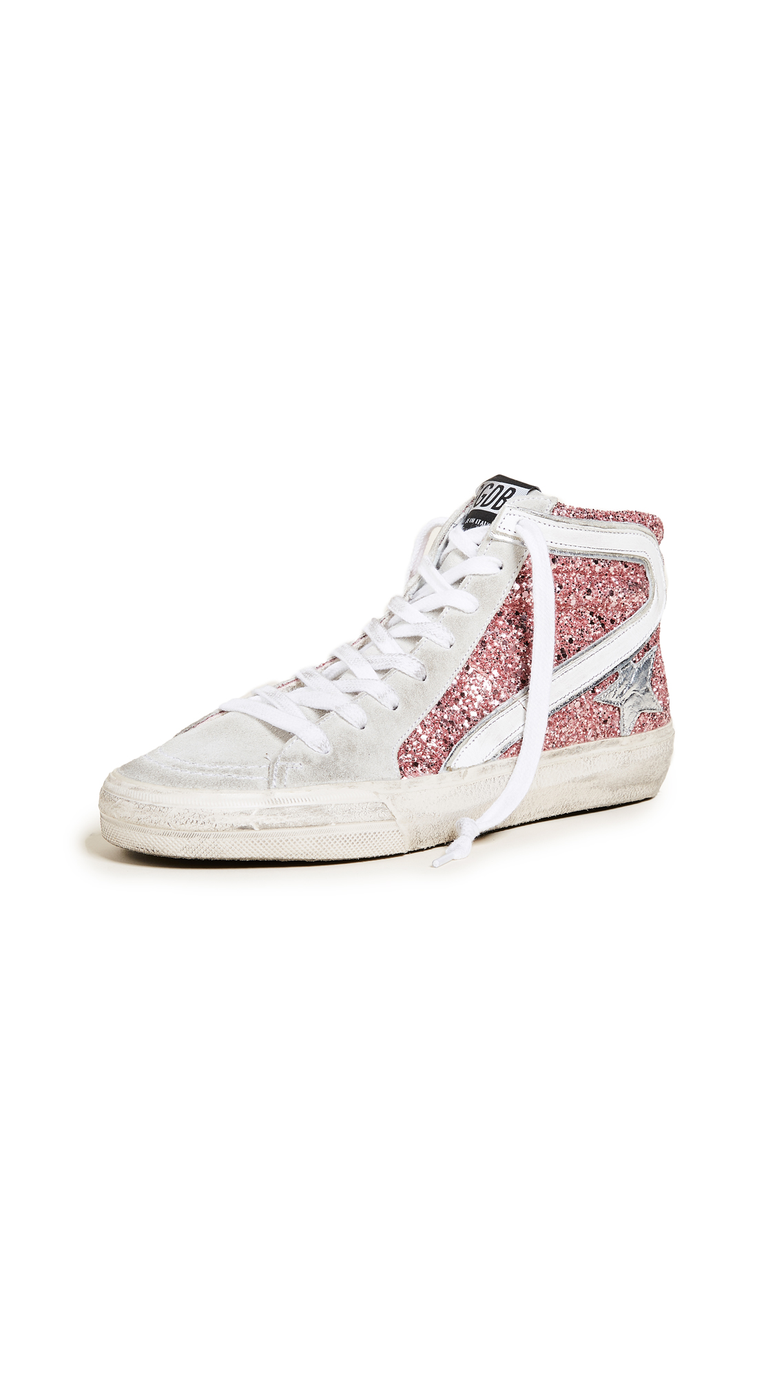 Golden Goose Slide Sneakers - Pink/Ice/White/Silver