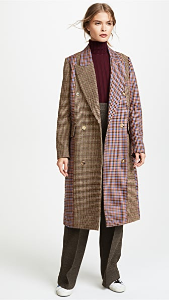 Golden Goose Nina Check Coat