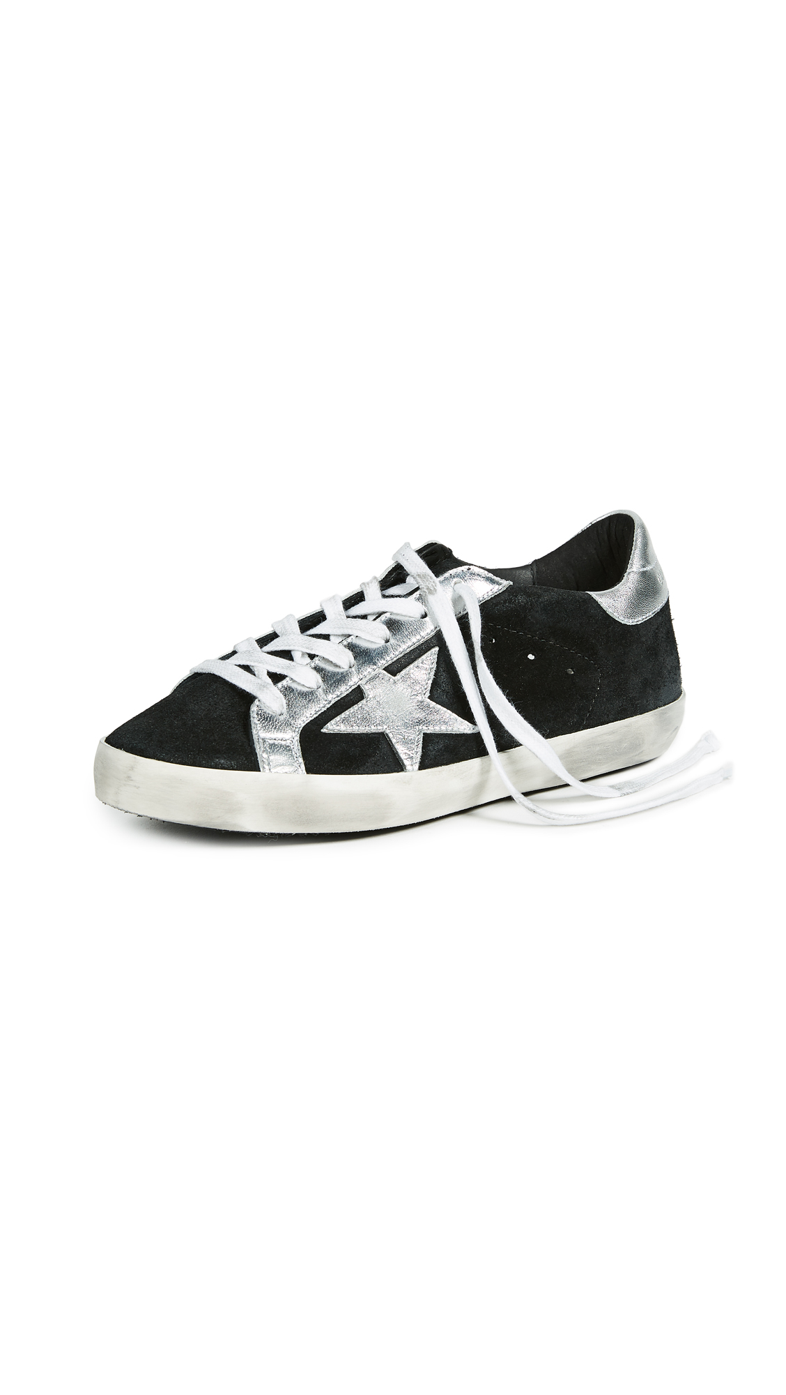 Golden Goose Superstar Sneakers - Black/Silver
