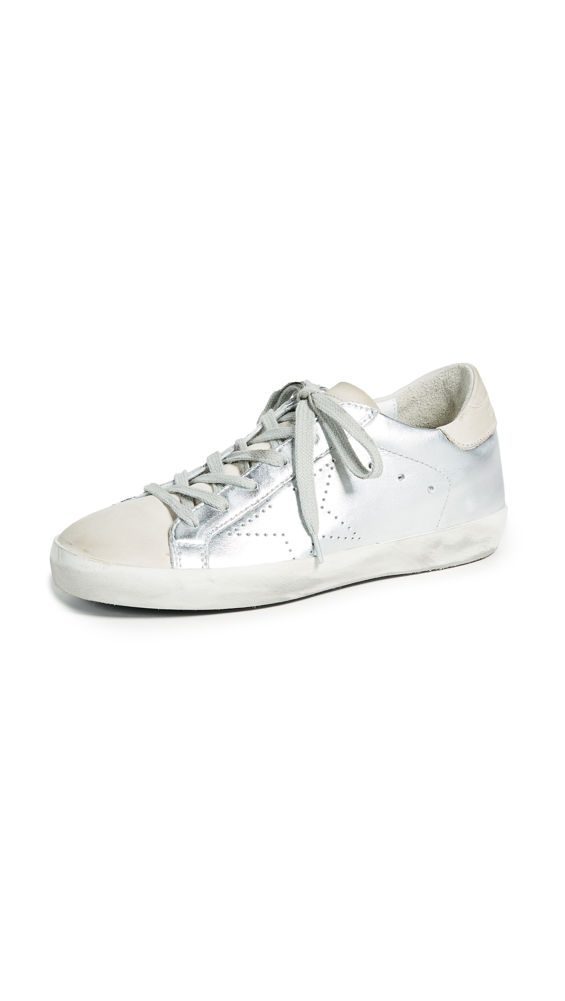 Golden Goose Superstar Sneakers - Silver Skate
