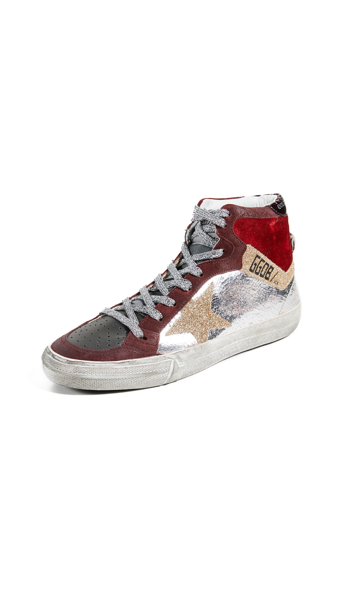 Golden Goose 2.12 Sneakers - Silver/Gold