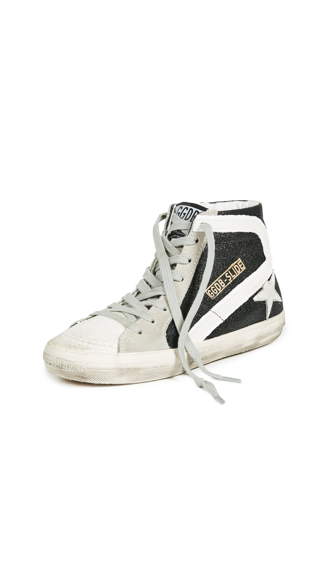 Golden Goose Slide Sneakers - Black/White