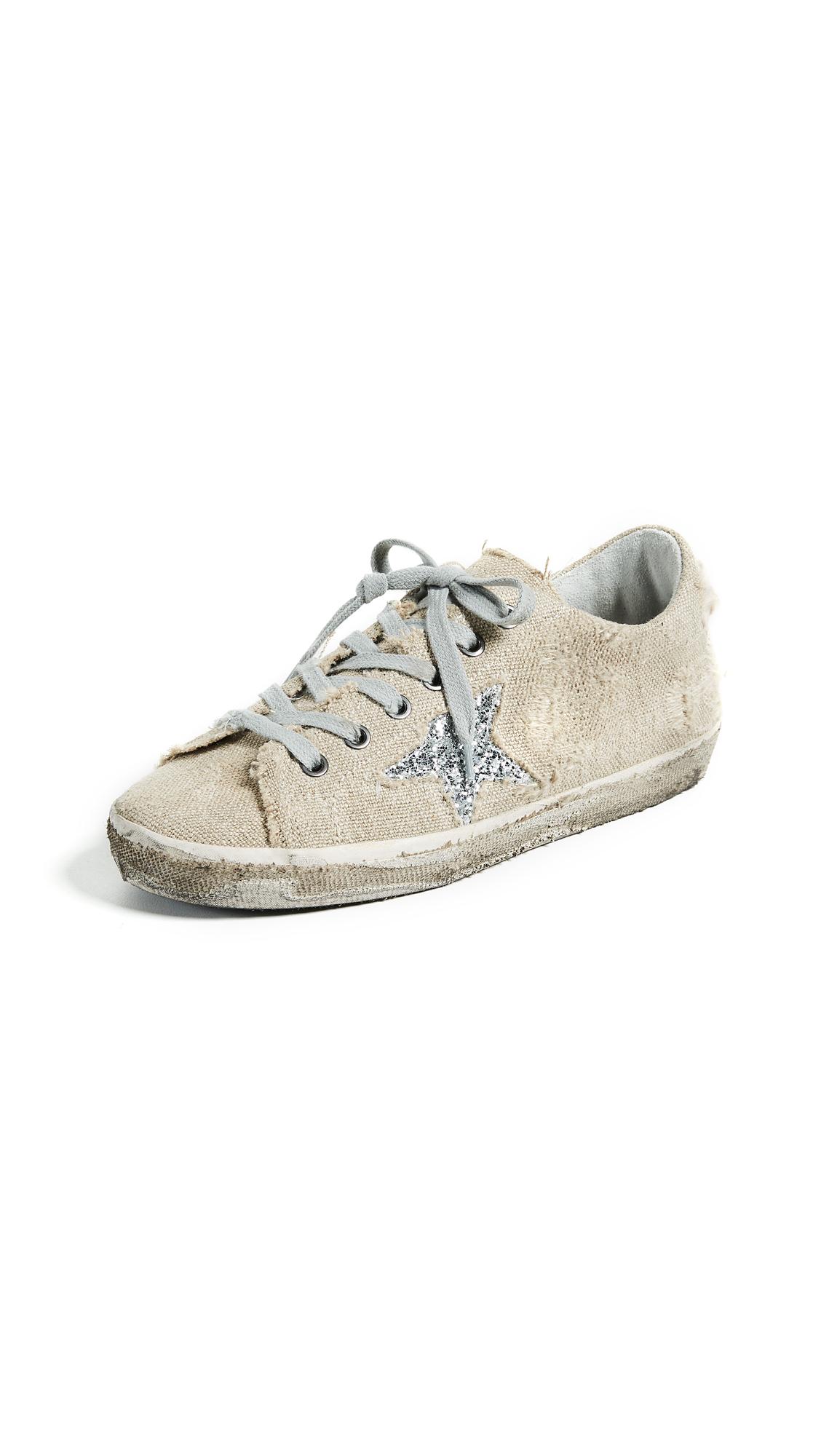Golden Goose Superstar Sneakers - Linen/Silver