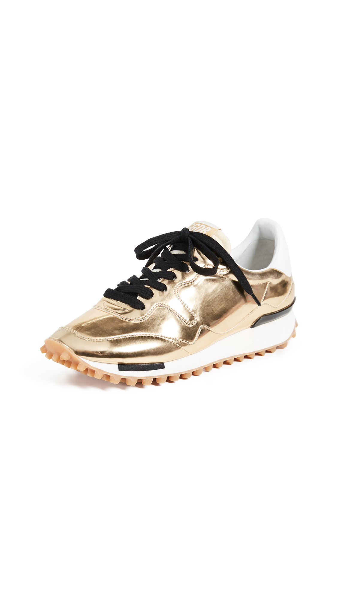 Golden Goose Starland Sneakers In Gold Metal