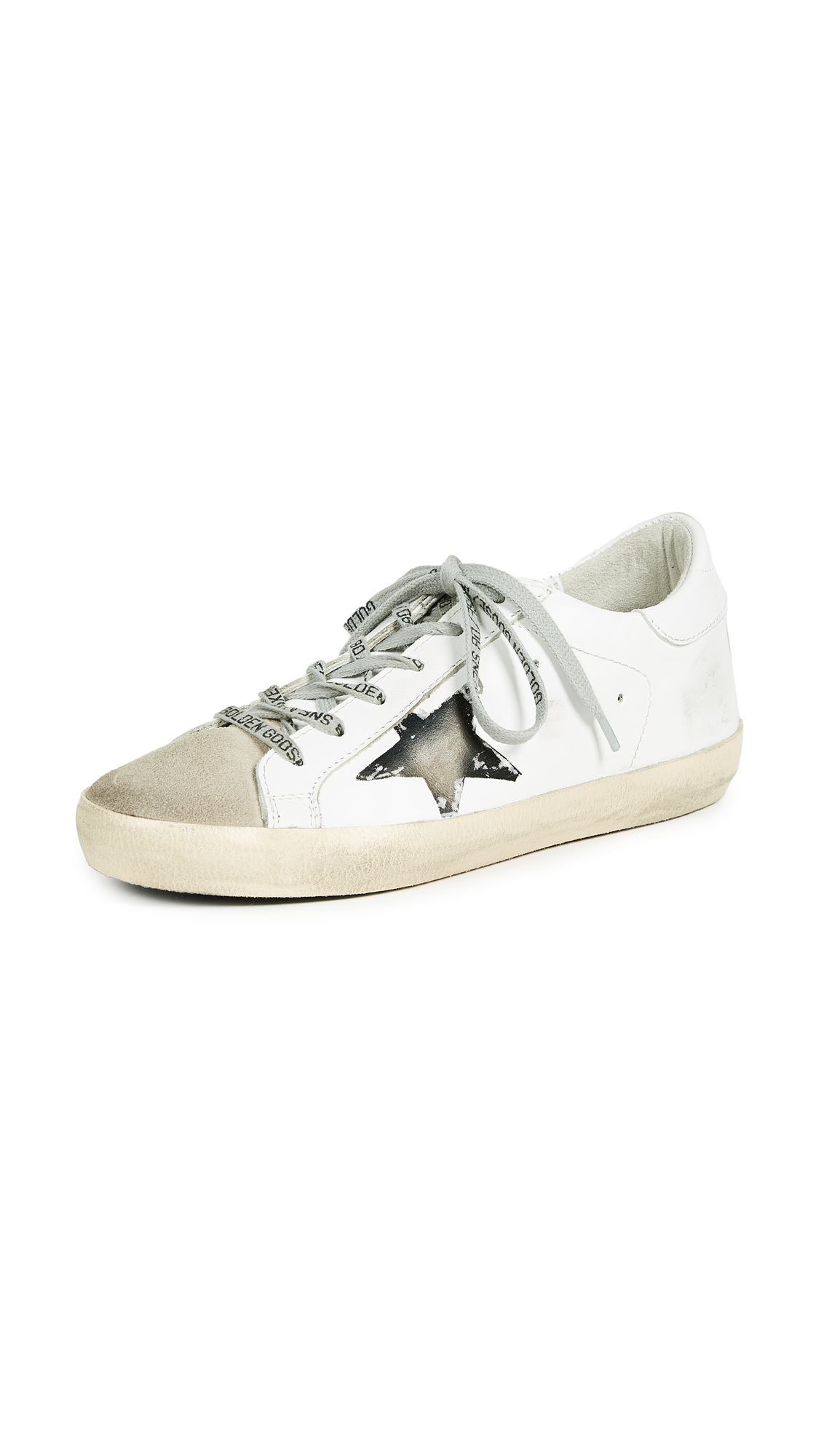 Golden Goose Superstar Sneakers - White Flag