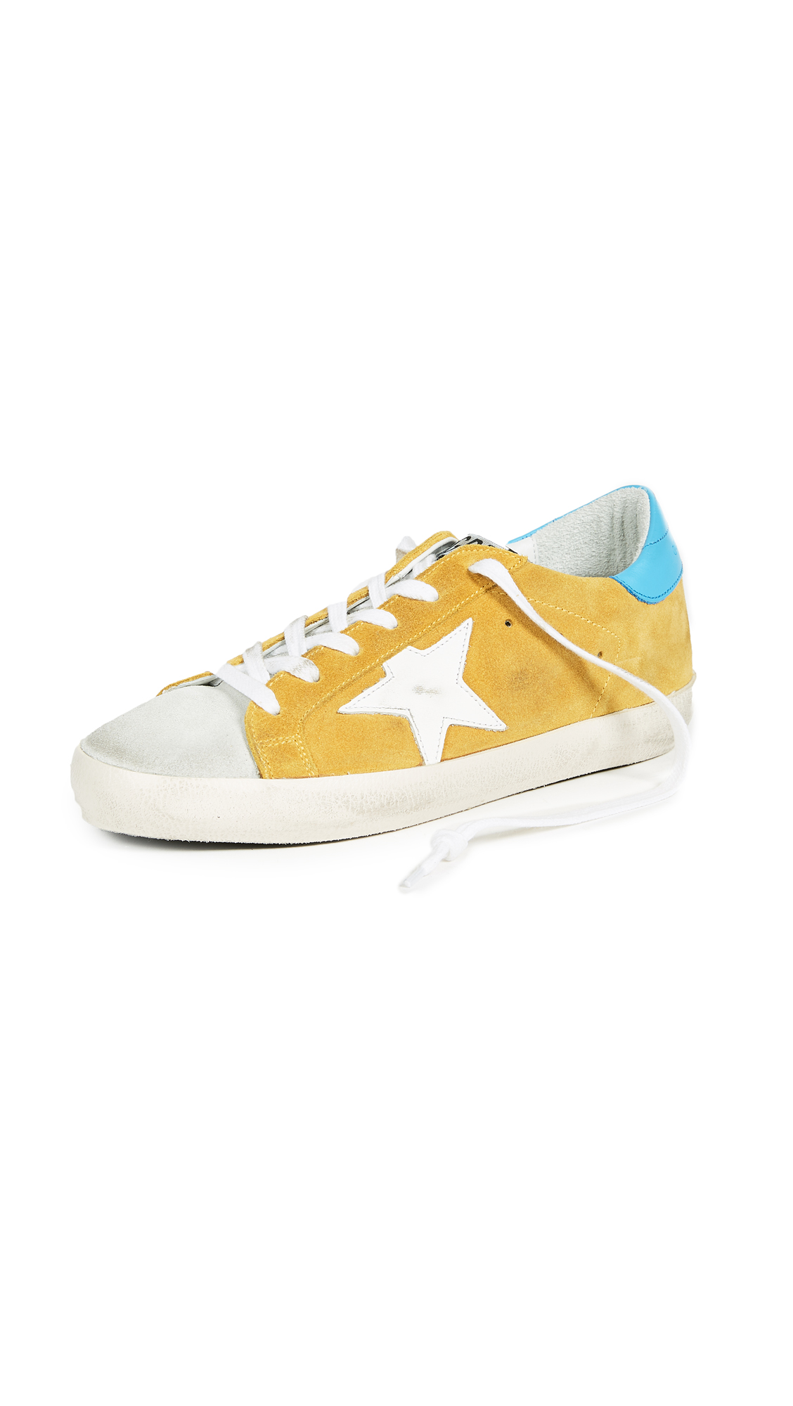 Golden Goose Superstar Sneakers - Yellow/Blue/White