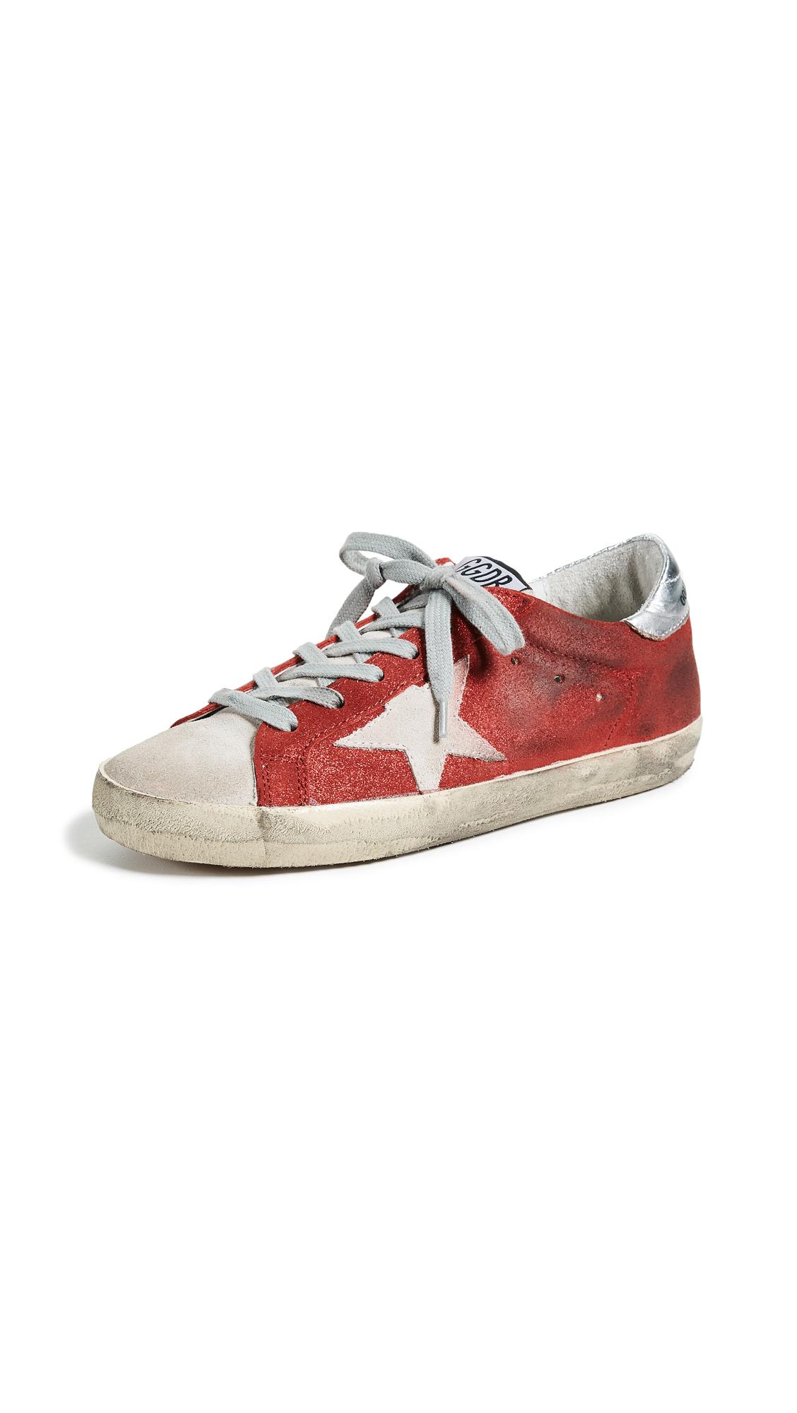 Golden Goose Superstar Sneakers - Red/Sand