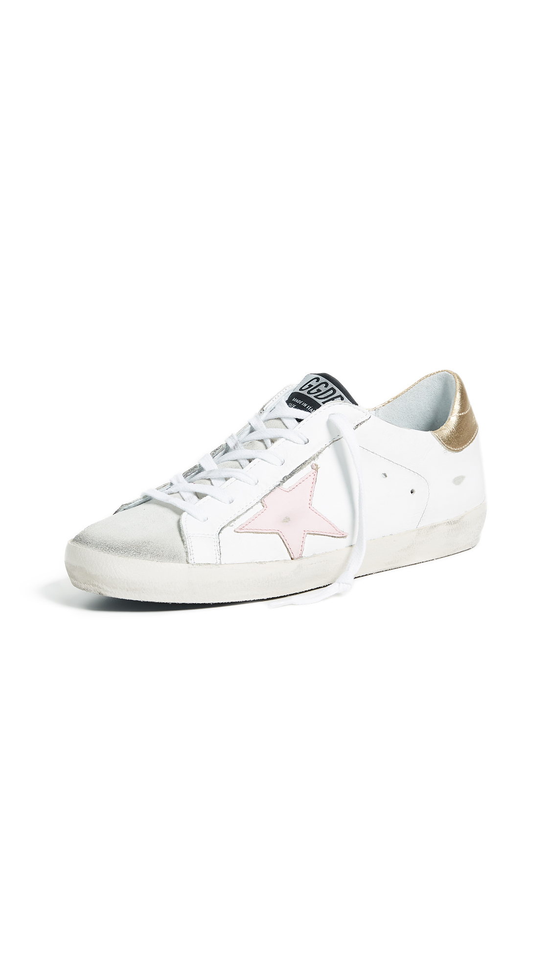 Golden Goose Superstar Sneakers - White/Gold/Pink