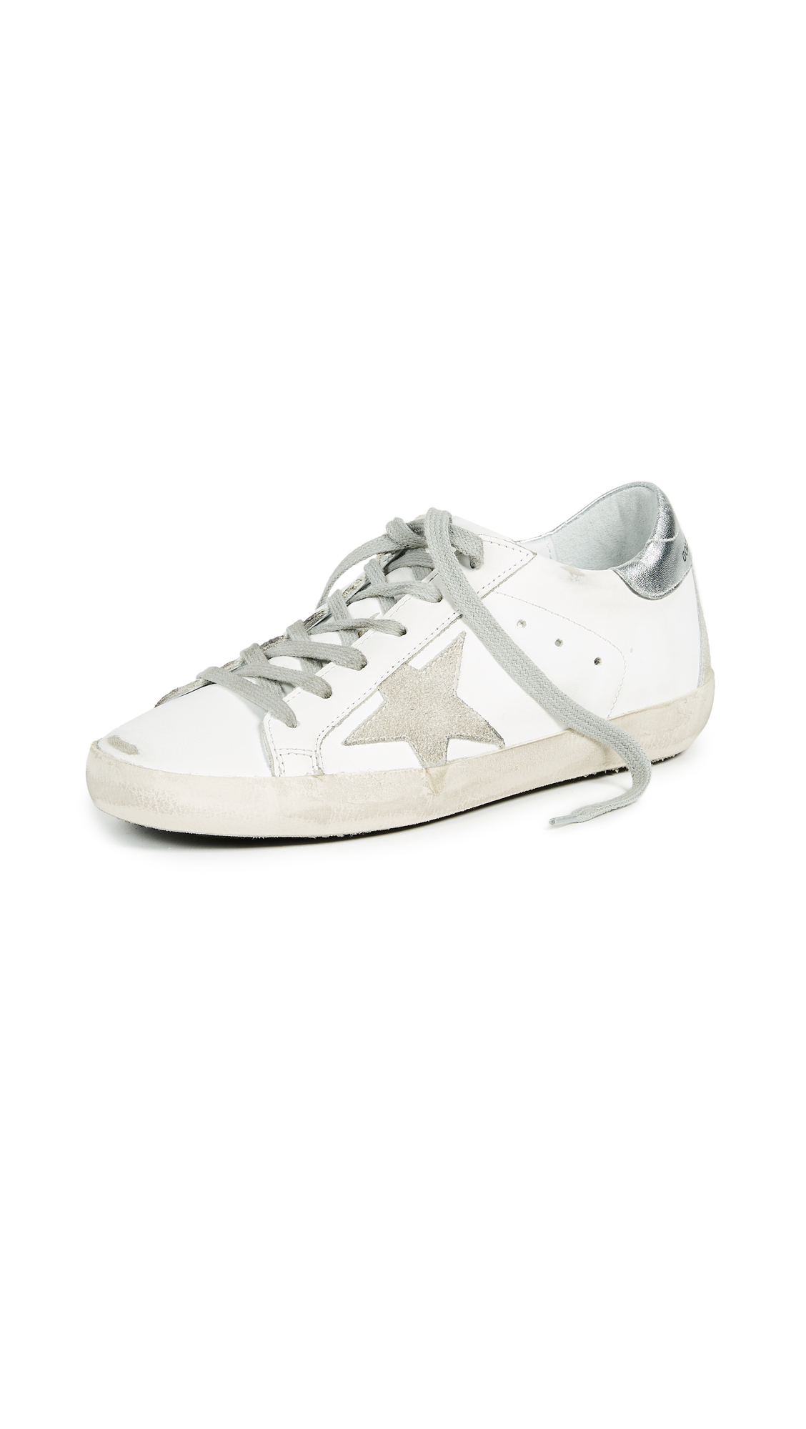Golden Goose Superstar Sneakers - White/Silver