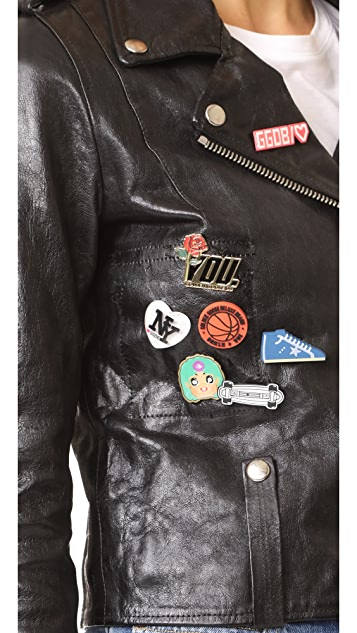 Golden Goose Mini Chiodo Leather Jacket