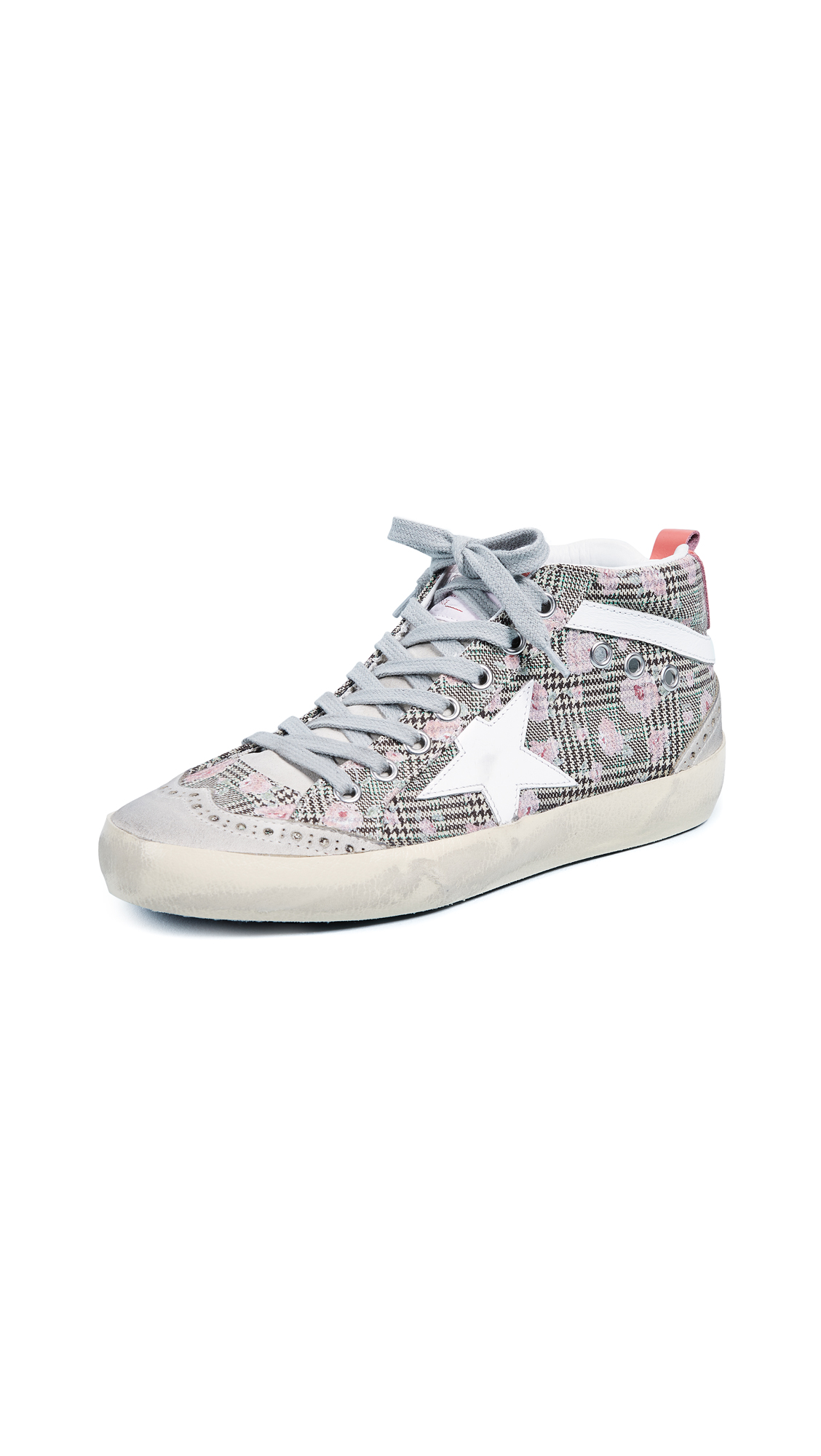 Golden Goose Mid Star Sneakers - Floral