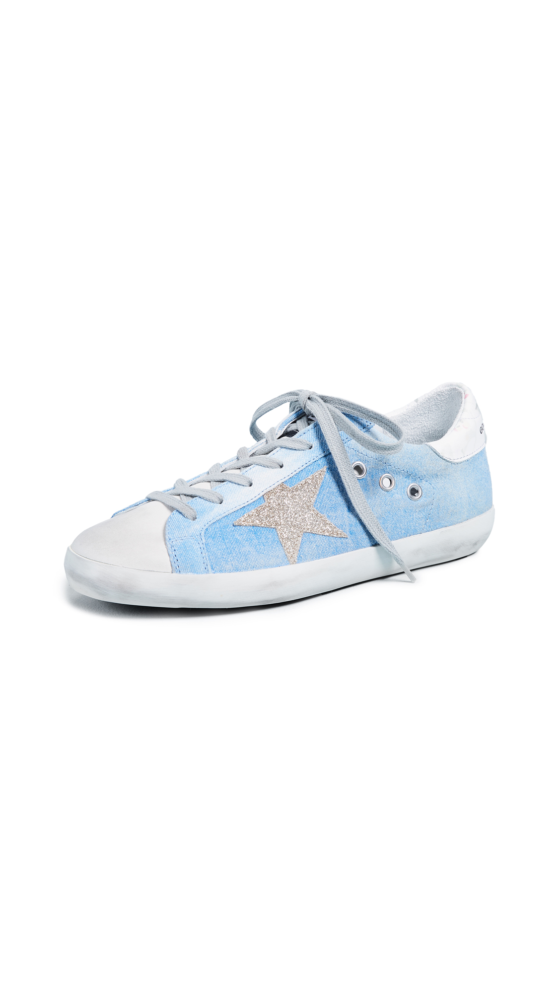 Golden Goose Superstar Sneakers - Denim/Floral