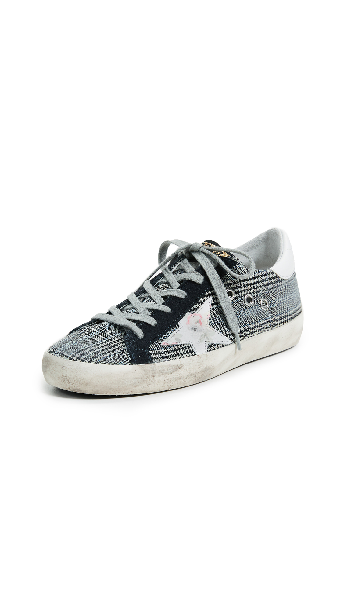 Golden Goose Superstar Sneakers - Tweed/Floral