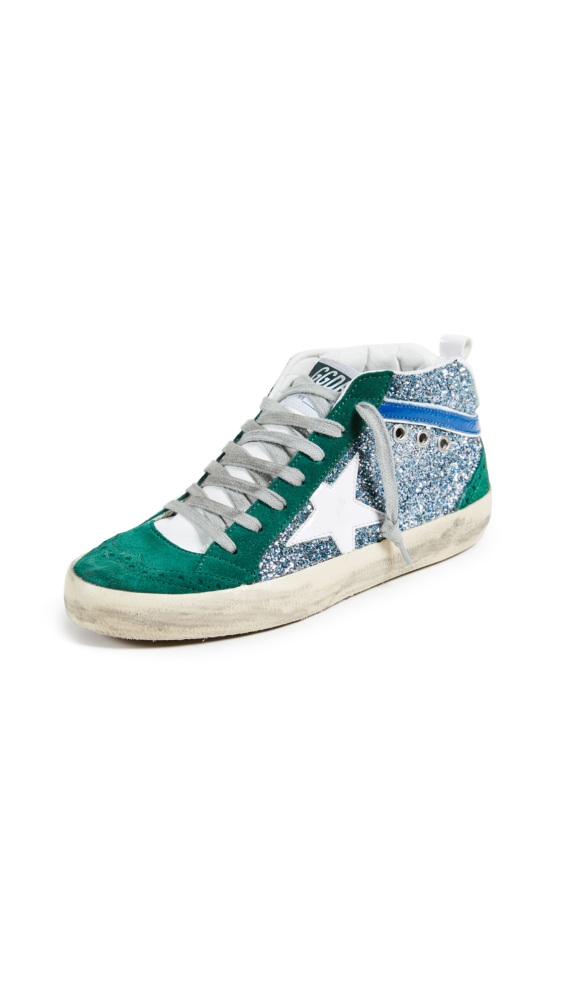 Golden Goose Mid Star Sneakers - Green/White