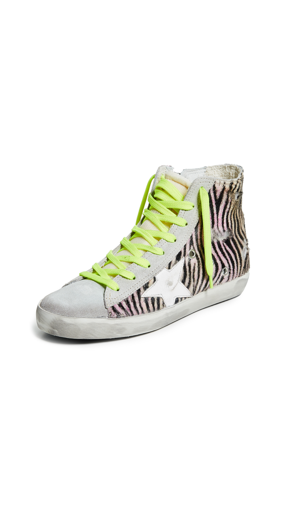 Golden Goose Francy Sneakers - Multicolor Zebra/White