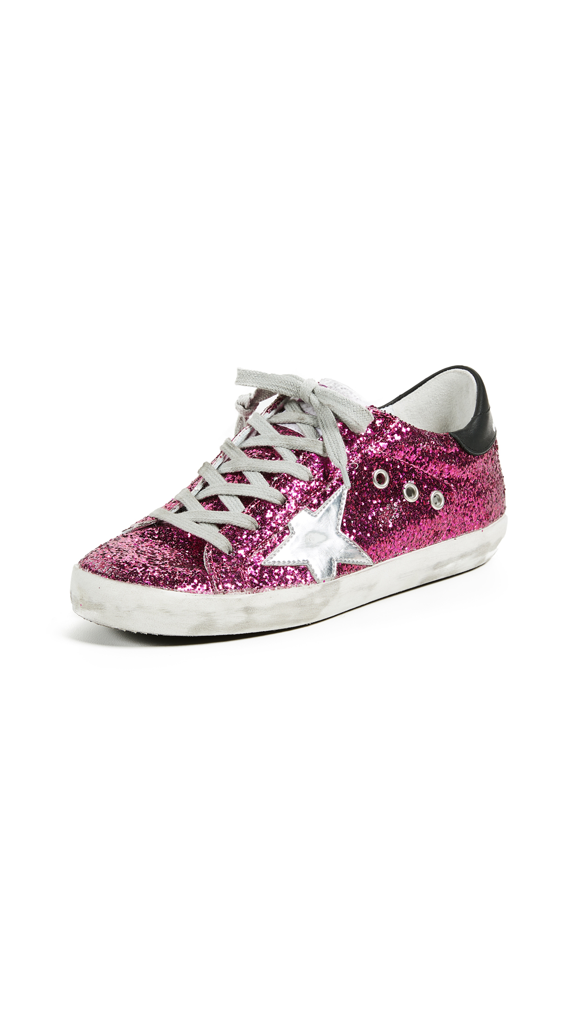 Golden Goose Superstar Sneakers - Cyclamen/Silver