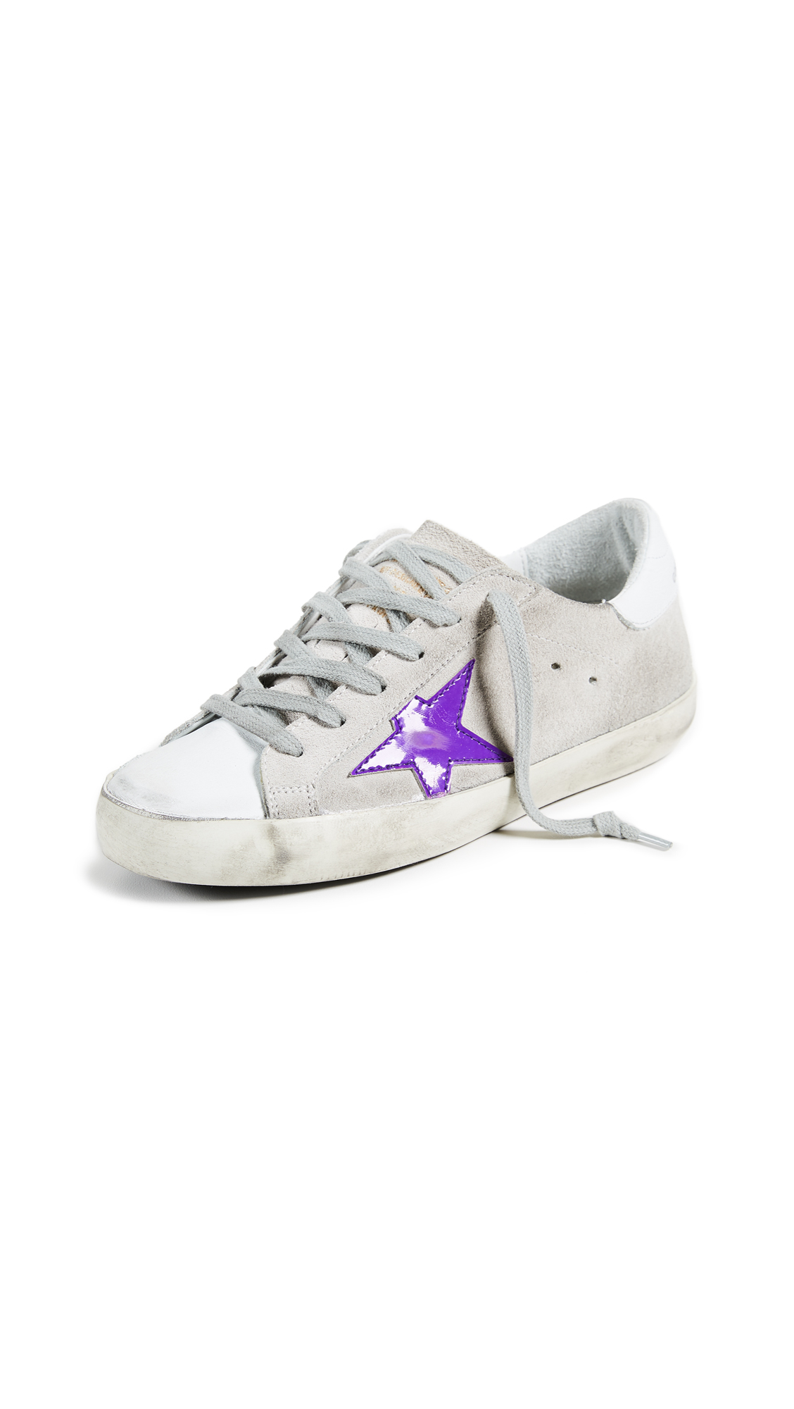 Golden Goose Superstar Sneakers - White/Viola