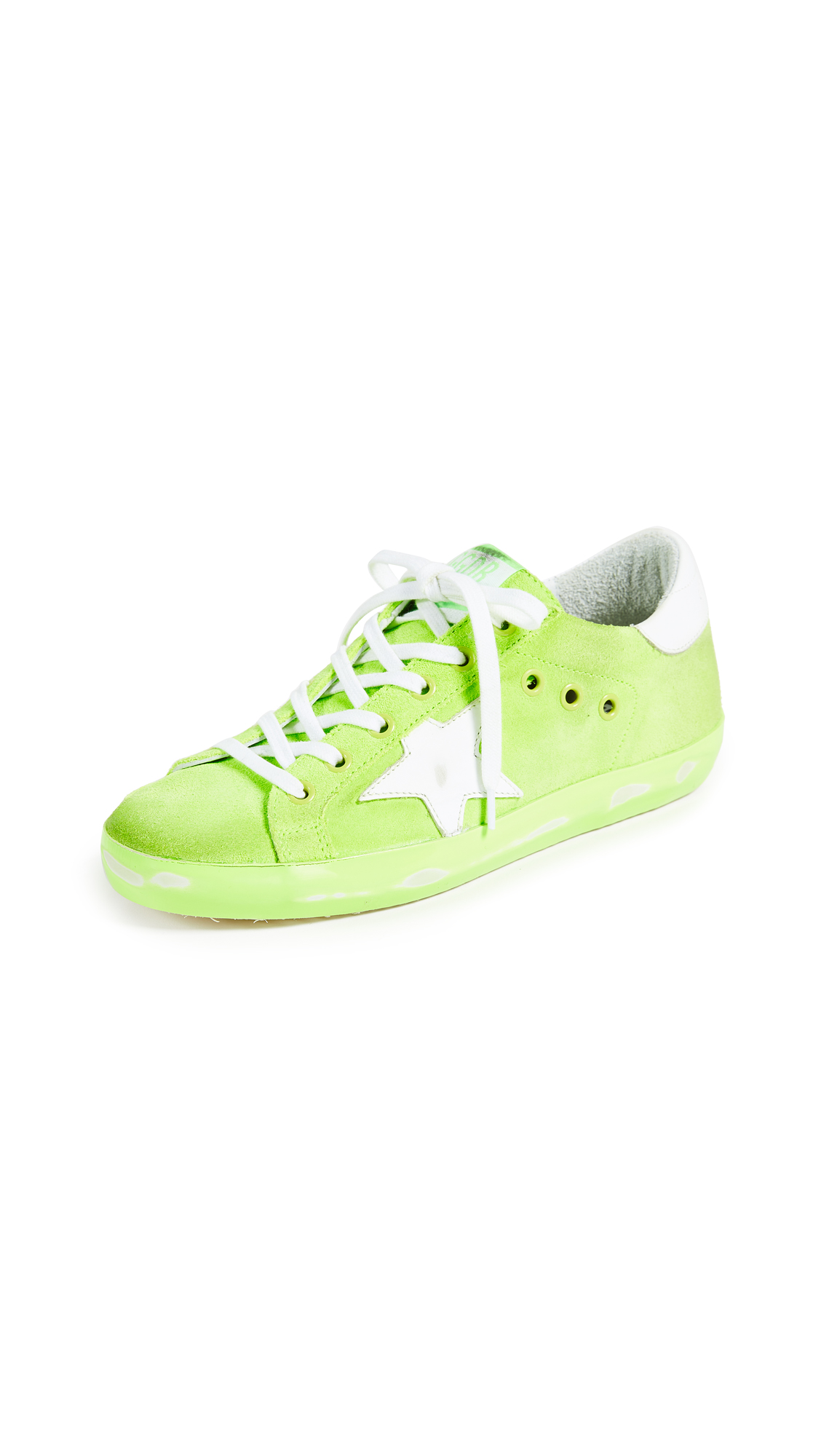 Golden Goose Superstar Sneakers - Light Green Fluo