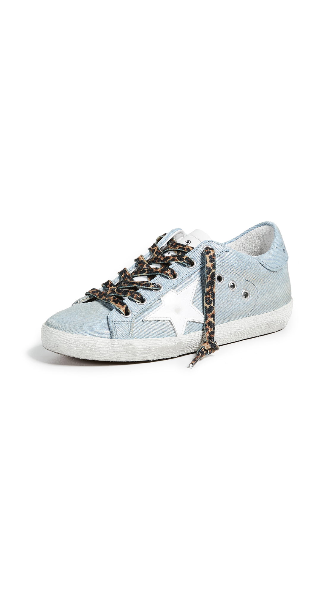Golden Goose Superstar Sneakers - Shiny Jeans/White