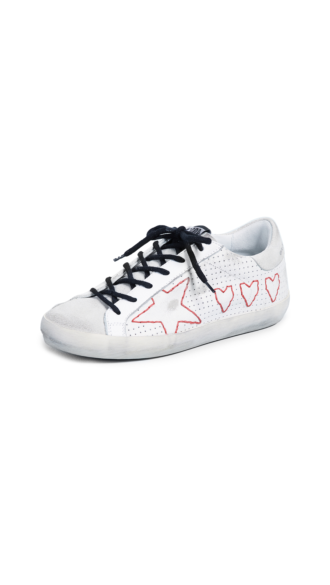 Golden Goose Superstar Sneakers - White/Hearts/Stars