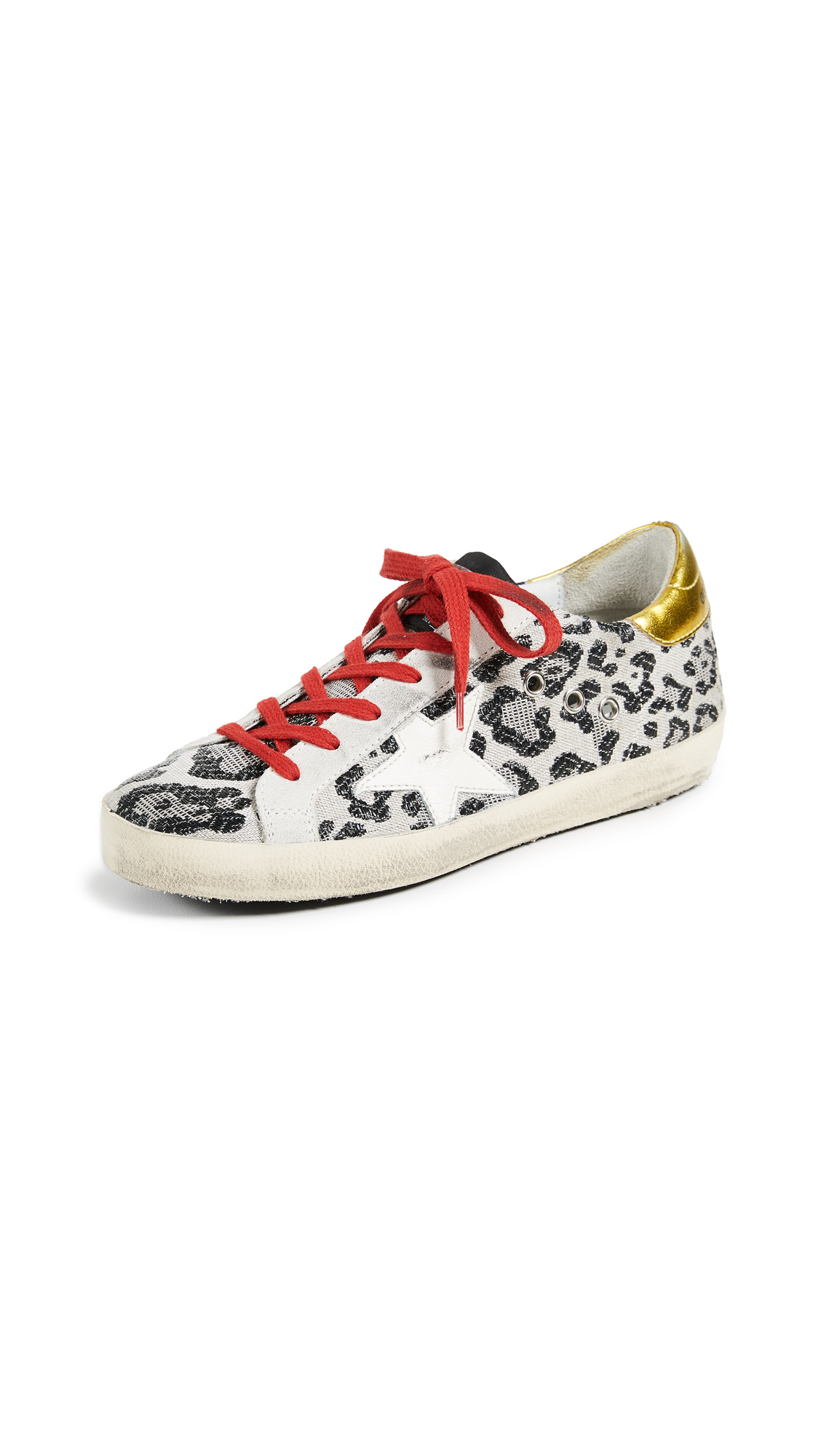 Golden Goose Superstar Sneakers - Black Leopard/Cream