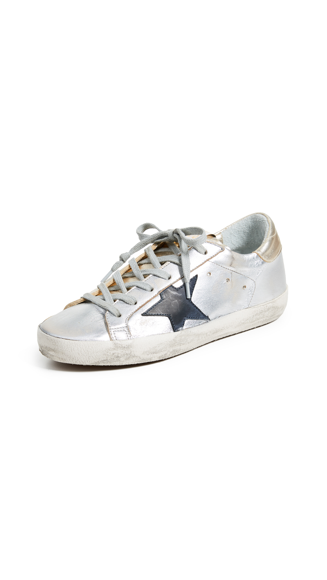 Golden Goose Superstar Sneakers - Gold/Silver