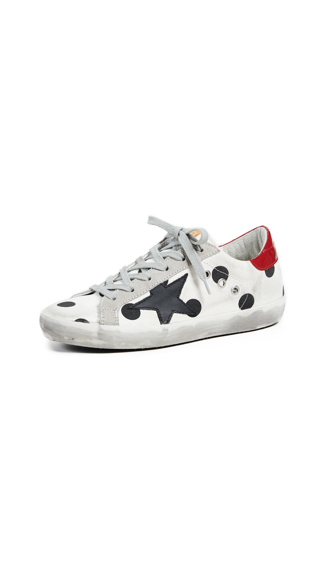 Golden Goose Superstar Sneakers - White/Black Polka Dot